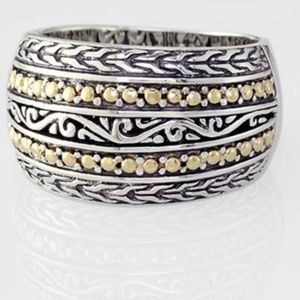 Effy sterling silver and 18kt. yellow gold ring